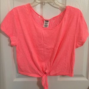 Victoria's Secret PINK crop top with lace back